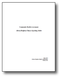 Cover page of report: white with black text